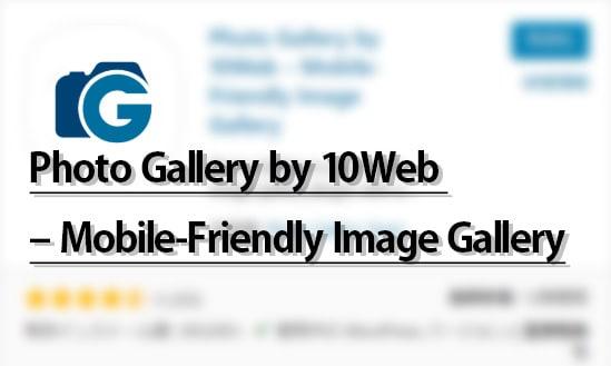Photo Gallery by 10Web レスポンシブギャラリー設定